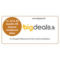 Enjoy 12, 24 & 40 months 0% interest instalment plans on selected products at www.bigdeals.lk for all Sampath Mastercard and Visa Credit Cardholders