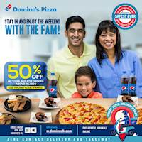 Enjoy 50% OFF up to Rs.600 on online orders above Rs.1000 at Dominos Pizza