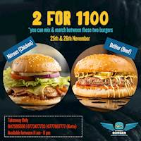 2 For Rs. 1100 at Street Burger