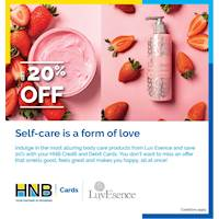 Save 20% off from Luv Essence for HNB Cards