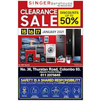Up to 50% OFF on Electronics & Home Appliances at Singer Warehouse