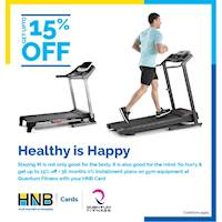 Get up to 15% off at Quantum Fitness for HNB Credit Card