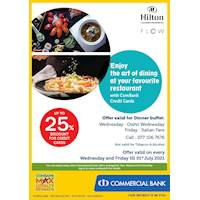 Enjoy up to 25% Off for ComBank Credit Cards at Hilton Colombo Residence