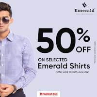 50% off on all Emerald Shirts at all our Fashion Bug outlets