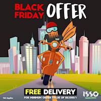 Black Friday Offer - free delivery for all orders above 1,000LKR From Isso!