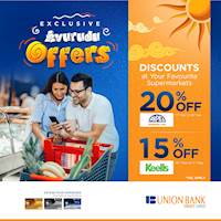 Enjoy these supermarket savings when you shop with your Union Bank Credit Card!