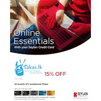 Enjoy exclusive discounts of 15% off on TVs with your Seylan Credit Card at Takas.lk