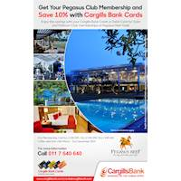 Get your Pegasus Club Membership and Save 10% with Cargills Bank Cards