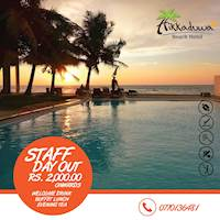 Staff Day packages assuring you an unforgettable experience at Hikkaduwa Beach Hotel for ONLY 2000 LKR NET per person