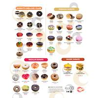New 2021 Updated Donut Menu at Gonuts with Donuts