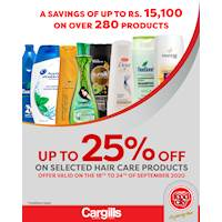 Get up to 25% off on selected Hair Care products at Cargills FoodCity!