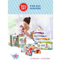 15% off Baby Diapers