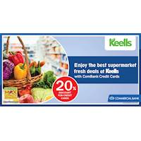 Enjoy the best supermarket fresh deals at Keells with ComBank Credit Card
