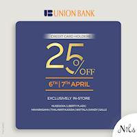Enjoy 25% OFF exclusively at Nils for Union Bank Credit Cards