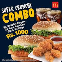 Crunchy Combo for Rs.1,000 at McDonalds
