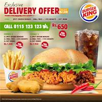 Exclusive Delivery offer at Burger King