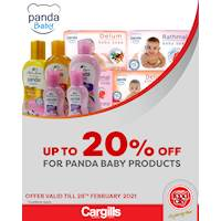 Get up to 20% Off for Panda Baby Products at Cargills FoodCity!