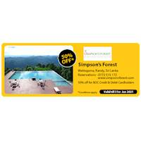 Get 50% off at Simpson's Forest for BOC Credit and Debit Cards