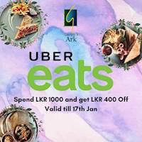 Spend 1000 and get 400 off via UberEats from Garton's Ark