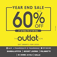 Year End Sale Up To 60% Off at The Outlet Store