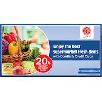 Enjoy the best supermarket fresh deals with ComBank Credit Cards at Cargills Food City