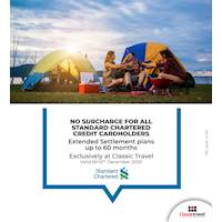 No Surcharge for All Standard Chartered Credit Cardholders Exclusively at Classic Travel