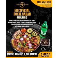 Eid Special Royal Sahan meal for 5 at Arabian Knights