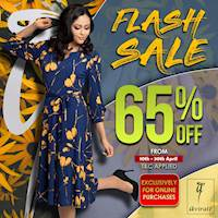 Avirate Flash Sale up to 65% OFF on online purchases