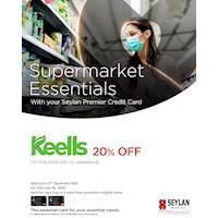 Get 20% savings during weekends at Keells with your Seylan World MasterCard & Visa Signature Credit Cards