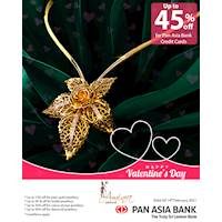 Up to 45% off at Aminra Jewellers for Pan Asia Bank Credit Cards