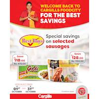 Special Savings on selected sausages at Cargills Food City