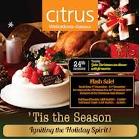Enjoy this CHRISTMAS EVE with Citrus! Major savings on your bookings for this Christmas Eve at CITRUS WASKADUWA inclusive of the GALA Christmas Eve DINNER
