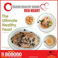Red Heart at Chinese Dragon Café!!
