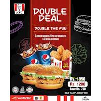 Double your pleasure, double your fun with KFC