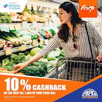Get 10% Cashback on first Rs.1,000 of Total Bill at Arpico Supercentre when you pay via FriMi.