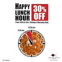 Seasonal Happy Lunch Hour at Chinese Dragon Cafe