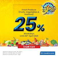 25% Savings on Fresh Produce, fruits, vegetables and seafood at LAUGFS for Combank Credit Card