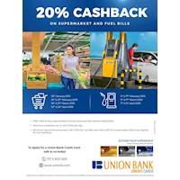 Get 20% Cashback on Supermarket and Fuel Bills with Union Bank Credit Cards