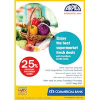 25% Discount for Commercial Bank Credit Cards at Arpico Supercentre