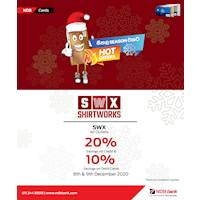 Enjoy Up to 20% off for NDB bank Cards at Shirworks