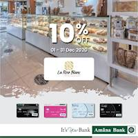 Enjoy 10% off at La Rose Blanc with your Amana Bank Debit Card.