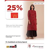 Enjoy 25% savings at W with DFCC Credit Cards!