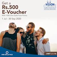 Get a Rs. 500 E-Voucher with 1500 One Galle Face Points at One Galle Face Vision Care