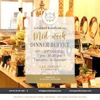 Mid-Week Dinner Buffet at The Grand Kandyan
