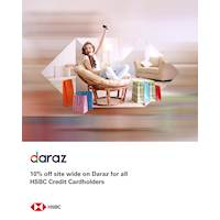 Enjoy a 10% site wide saving when you shop at Daraz.lk with your HSBC Credit Card on Wednesdays until 25 December 2019.
