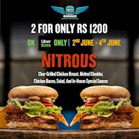 Get 2 for Rs 1200 on Uber Eats at Street Burger
