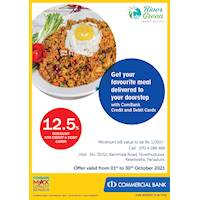 Favourite meal delivered to your doorstep from River Green Family Resort with ComBank Credit and Debit Cards
