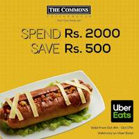Spend Rs. 2000 and save Rs. 500 when you order from The Commons Coffee House on Uber Eats!