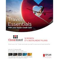 Enjoy 12 month instalment plans and a range of exclusive travel benefits when you book air tickets on Classic Travel with your Seylan Credit Card