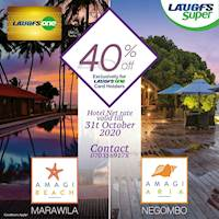 40% off on your LAUGFS ONE CARD at Amagi Hotels.